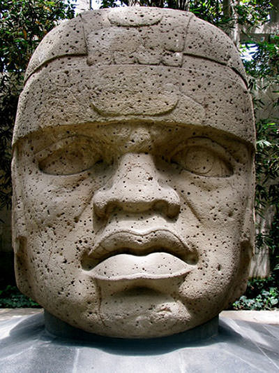 Olmec Colossal Head 1 at San Lorenzo