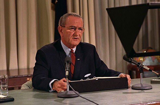 President Johnson on March 31, 1968