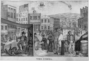 Panic of 1837 cartoon