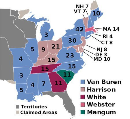1836 U.S. election electoral college