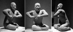 The Wrestler - An Olmec statuette