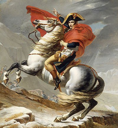 Famous portrait of Napoleon Bonaparte
