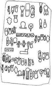 The Olmec Cascajal Block glyphs