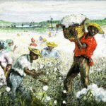 American South cotton plantation