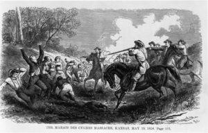 Marais des Cygnes massacre during Bleeding Kansas