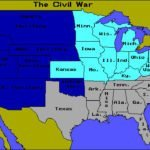 Union and Confederate States Map