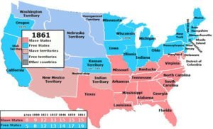 U.S. Slave states and Free states Map