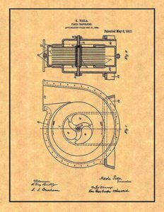 Fluid Propulsion Patent of Nikola Tesla