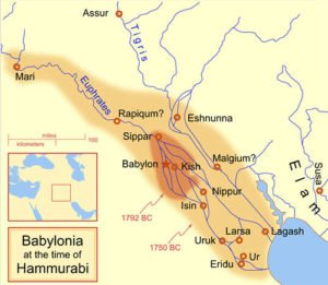 Hammurabi Empire map