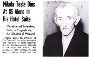 Nikola Tesla's death report
