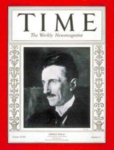 Nikola Tesla on Time Magazine