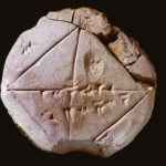 Mathematical Babylonian clay tablet
