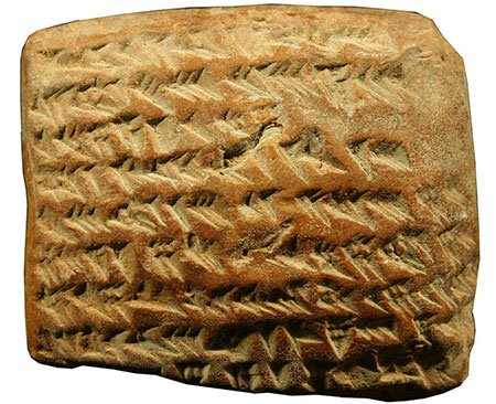 Astronomical Babylonian tablet