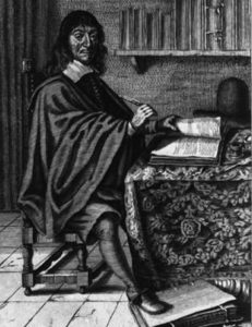 Rene Descartes at work