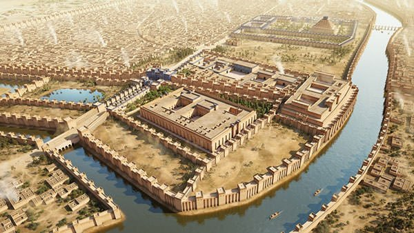 Depiction of ancient Babylon