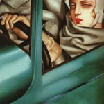 Self-portrait in a Green Bugatti (1929)