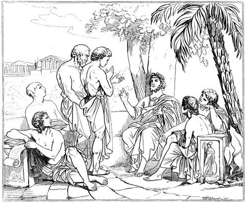 Plato in his Academy
