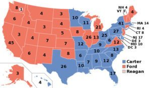 1976 U.S. presidential election map