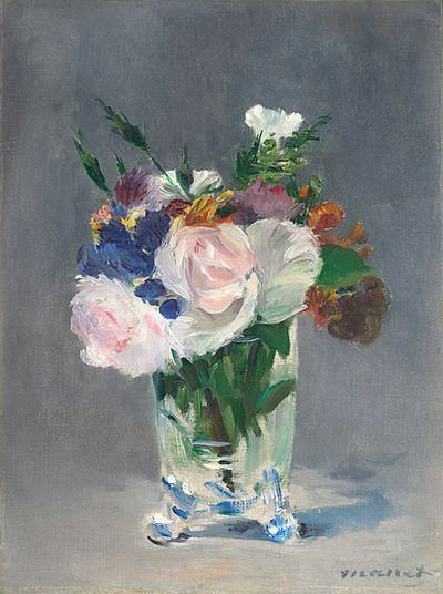 Flowers in a Crystal Vase (1882)