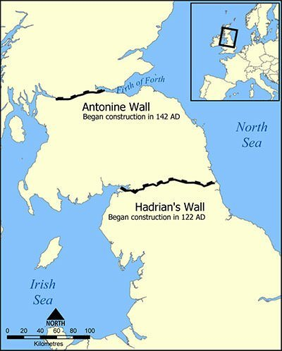 Hadrian's Wall Map