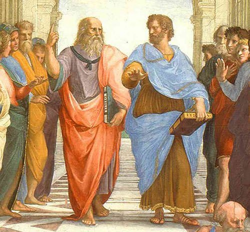 Plato and Aristotle in School of Athens