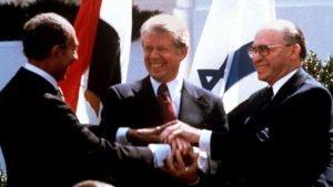 Carter with Menachem Begin and Anwar el-Sadat