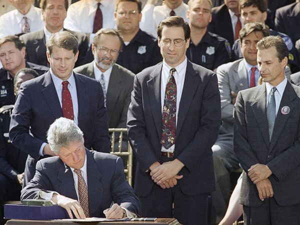 President Clinton signs the Crime Bill of 1994