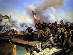 Napoleon Bonaparte leading during the French Revolutionary Wars