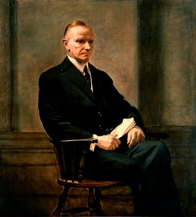 Calvin Coolidge Presidential Portrait