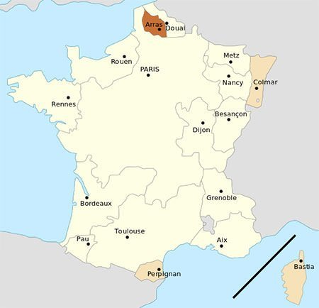 French parlements in 1789