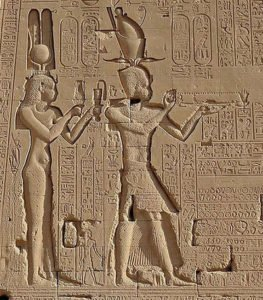 Cleopatra VII and her son Caesarion