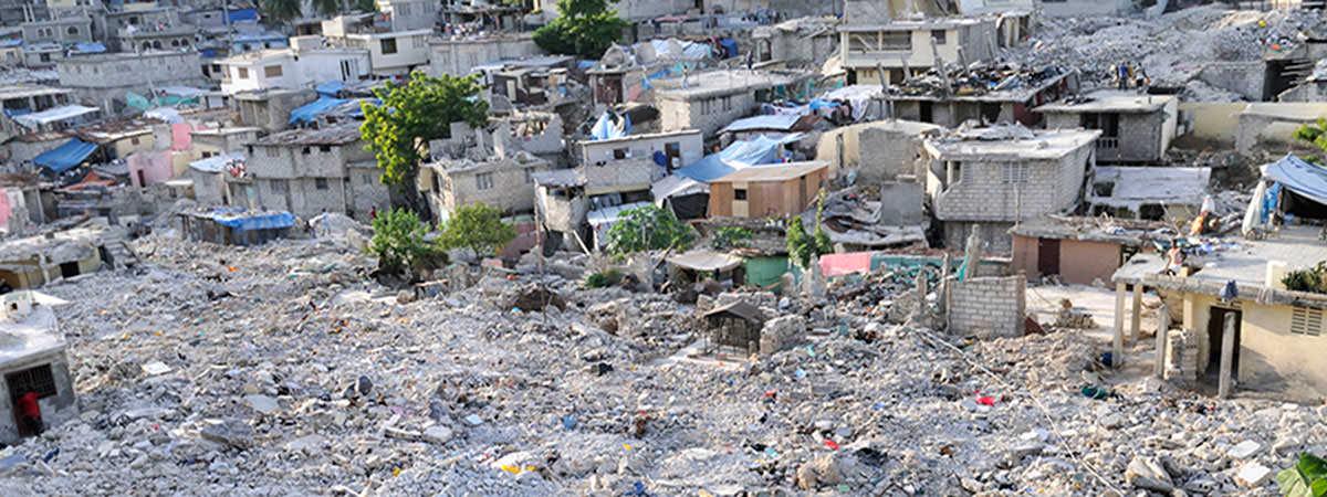 2010 Haiti Earthquake collapsed building