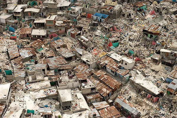 2010 Haiti Earthquake collapsed building