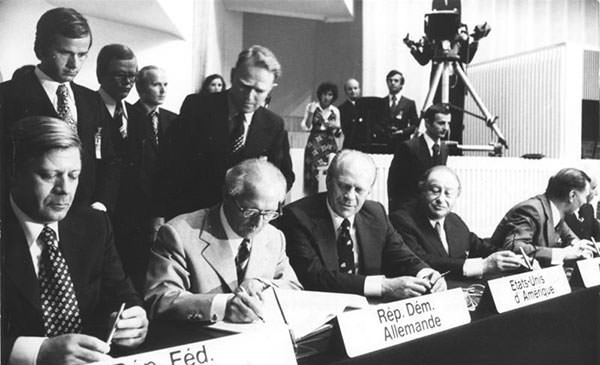 Gerald Ford at the Helsinki Accords