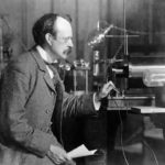 JJ Thomson in his laboratory