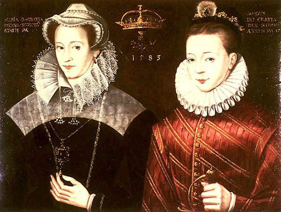 Mary and her son King James VI