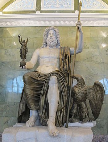 Statue of Roman God Jupiter