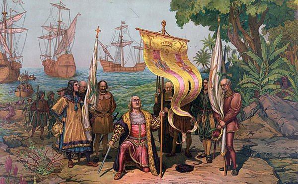 Christopher Columbus Landing in New World