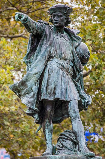 Statue of Columbus in Providence