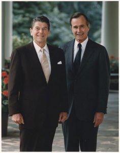 President Reagan and Vice-President Bush