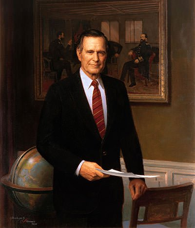 George Herbert Walker Bush presidential portrait