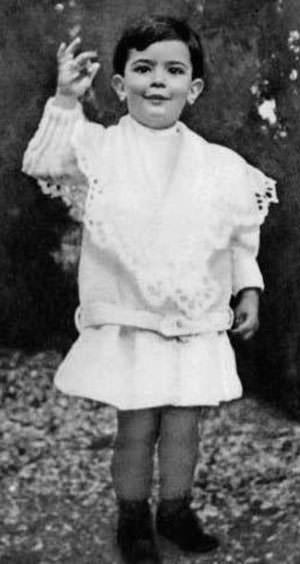 Salvador Dali as a child