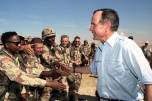 President Bush during Gulf War