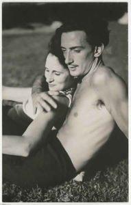Salvador Dali and his wife Gala