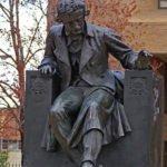 Statue of Edgar Allan Poe in Baltimore