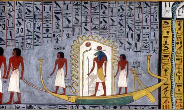 Sun God Ra in Ancient Egypt