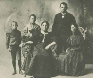 Booker T Washington with his family
