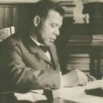 Booker T Washington in his office