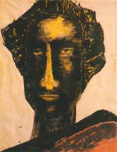 Head Study by Rabindranath Tagore