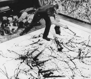 Jackson Pollock action painting